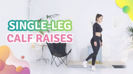 Single-leg calf raises - Step to Health