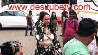 Dabangg 3 Salman Khan Sonakshi Sinha Warina Hussain spotted outside studio shooting for the movie
