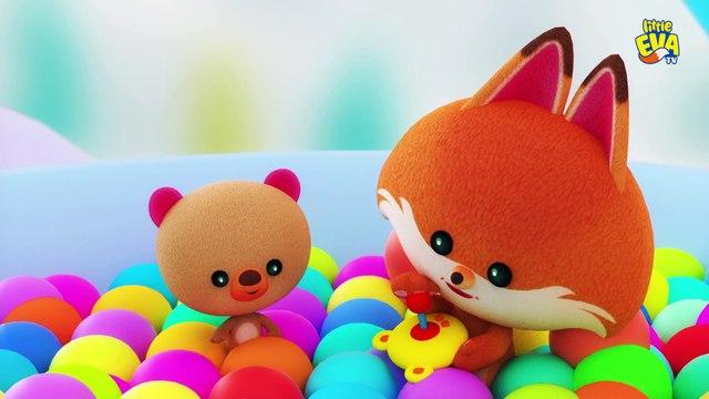 Learn Colors With Little Eva Fox,Teddy & Baby Elephants – Little Eva TV