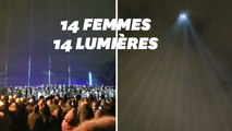 Pour les 30 ans d'un féminicide de masse, le ciel de Montréal s'illumine