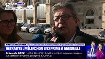 """Retraites: Jean-Luc Mélenchon demande aux manifestants """"d'être très vigilants à exercer une stricte non violence"""""""