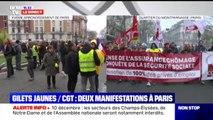Gilets jaunes/CGT: deux manifestations en cours à Paris