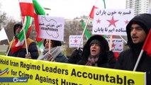 ناشطون يتظاهرون بفيينا احتجاجا على زيارة نائب وزير الخارجية الإيراني