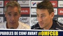 OM - Bordeaux : Paulo Sousa et Laurent Koscielny en conférence de presse