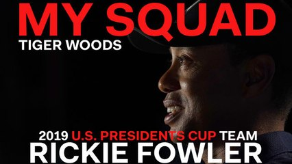 Captain Tiger Woods Dishes on 2019 U.S. Presidents Cup Team Player Rickie Fowler