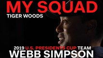 Captain Tiger Woods Dishes on 2019 U.S. Presidents Cup Team Player Webb Simpson