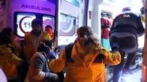 Sivas'ta 4 kişinin yaralandığı kaza güvenlik kamerasında