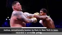 Joshua beats Ruiz Jr in heavyweight rematch