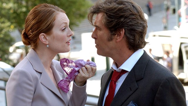 Laws of Attraction movie (2004) Pierce Brosnan, Julianne Moore, Michael Sheen