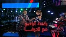رقصة سميرة سعيد مع الرامبو السوداني ماهر سامي #فريق_سميرة #MBCTheVoice