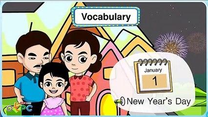 สื่อการเรียนการสอน คำศัพท์ภาษาอังกฤษ   วันสำคัญ ป.2 ภาษาอังกฤษ