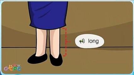 สื่อการเรียนการสอน คำศัพท์ภาษาอังกฤษ   บอกคุณลักษณะ สูง ยาว เล็ก ใหญ่ ป.2 ภาษาอังกฤษ