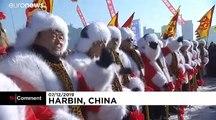 Chine : Harbin fête l'hiver et la glace