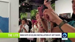 Man eats $120,000 installation at Art Basel