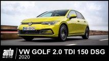VW GOLF 8 2.0 TDI 150 ch DSG7 Style ESSAI POV AUTO-MOTO.com