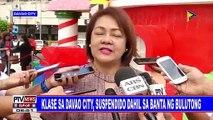 Klase sa Davao City, suspendido dahil sa banta ng bulutong