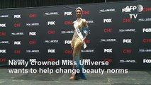 Newly crowned Miss Universe talks about female empowerment