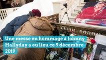Messe en hommage à Johnny Hallyday en l'église La Madeleine à Paris, deux ans après sa mort.