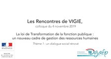 Les rencontres de Vigie 2019 : Un dialogue social rénové