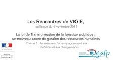 Les rencontres de Vigie 2019 : Les mesures d'accompagnement aux mobilités et aux changements