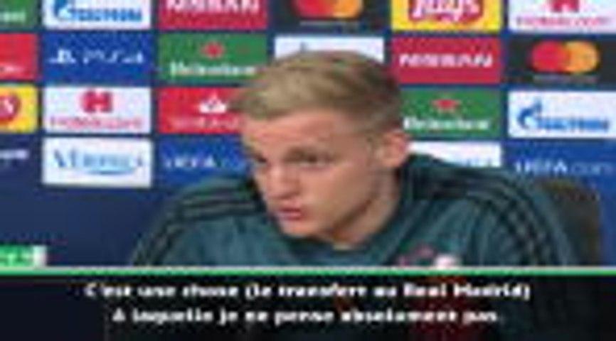 "Ajax - van de Beek : ""Je ne pense absolument pas au Real Madrid"""