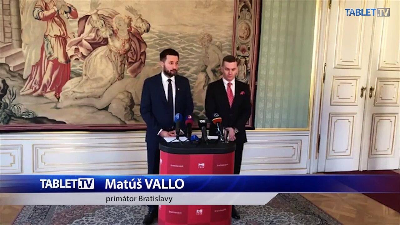 ZÁZNAM: TK primátora Bratislavy Matúša Valla a predsedu ÚVO Miroslava Hliváka