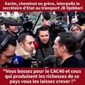 """Echange tendu entre un cheminot et Jean-Baptiste Djebbari """"Vous bossez pour le CAC40, et ceux qui produisent les richesses de ce pays vous les laissez crever !"""""""