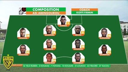 Ligue 1 / J10 / ASI d'Abengourou 2 - 0 ASEC Mimosas (Résumé)