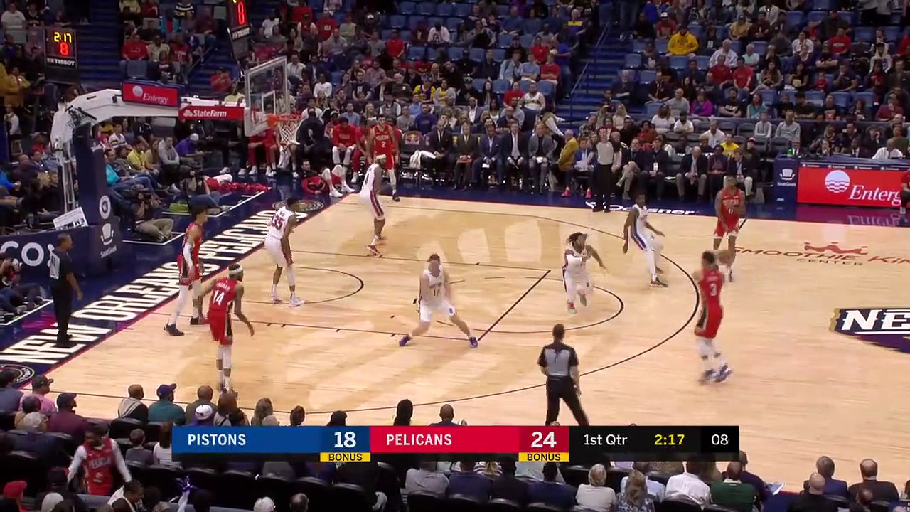 Detroit Pistons 105 - 103 New Orleans Pelicans