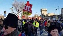 Manifestation contre la réforme des retraites à Avignon : le départ du cortège