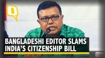 Bangladeshi Editor Slams India's CAB: 'Migration on Economic Grounds'