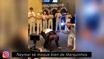 Neymar se moque bien de Marquinhos