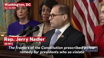 Watch: House Judiciary Announces Two Articles Of Impeachment Against President Trump