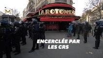 Pendant la manifestation à Paris, La Rotonde était sous haute protection