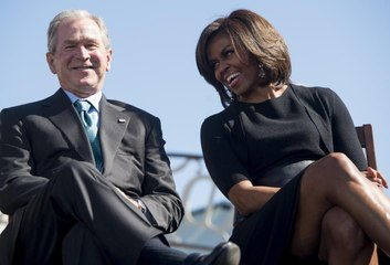 Michelle Obama Explained Her Friendship with George W. Bush