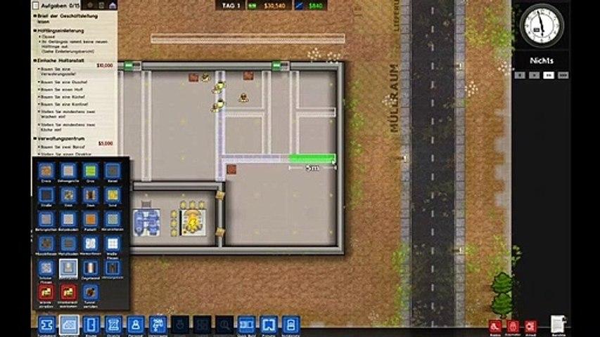 1.Let's Play Prison Architect _ Bau der Gefängnis-Verwaltung _ Folge #001