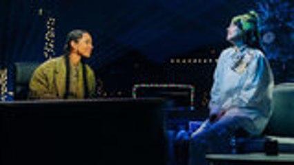 Billie Eilish & Alicia Keys Perform 'Ocean Eyes' on 'Late Late Show' | Billboard News
