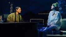 Billie Eilish & Alicia Keys Perform 'Ocean Eyes' on 'Late Late Show'   Billboard News