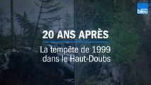 La forêt de Frasne (Haut-Doubs) 20 ans après la tempête de 1999