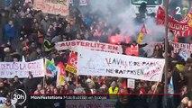 Retraites - Regardez le résumé en 60 secondes de la manifestation à Paris qui a attiré moins de monde que le 5 décembre dernier