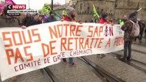 Réforme des retraites : à Nantes, les manifestants attendent les annonces du Premier ministre