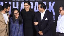 Deepika Padukone, Vikrant Massey and Meghna Gulzar At The Chhapaak Trailer Launch