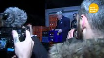 PM hides in fridge as aide swears at reporter