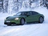 Essai Porsche Taycan 4S sur glace