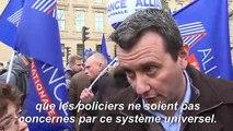 Retraites: à Paris, des policiers mobilisés pour défendre leur régime spécial