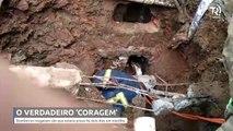 Confira o trabalho dos bombeiros para resgatar cão que estava há dois dias enterrado em manilha