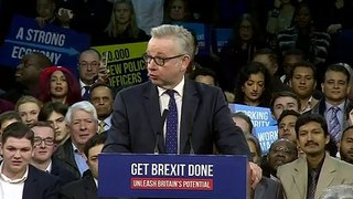 Gove blasts Corbyn during final rally before election