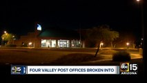 Four Valley  post offices broken into