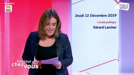 Gérard Larcher - Public Sénat jeudi 12 décembre 2019