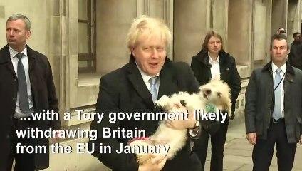UK political leaders vote in general election